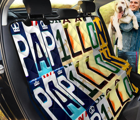 Papillon Dog Print Pet Seat covers