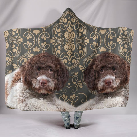 Cute Lagotto Romagnolo Dog Print Hooded Blanket