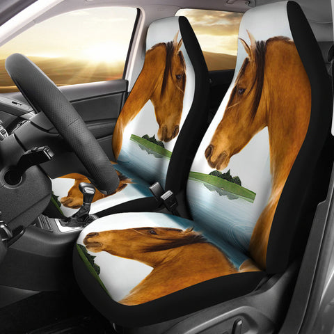 Kiger Mustang Horse Print Car Seat Covers