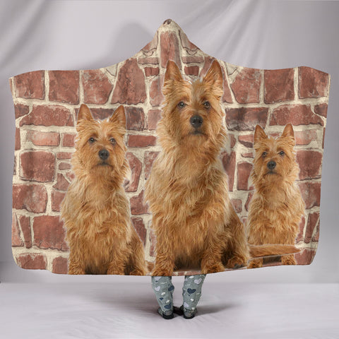 Australian Terrier Print Hooded Blanket