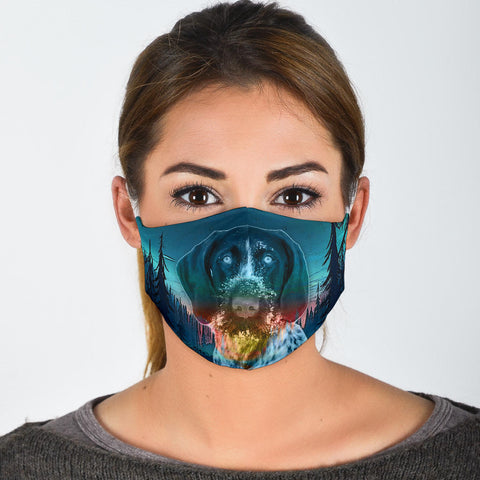Lovely German Wirehaired Pointer Print Face Mask