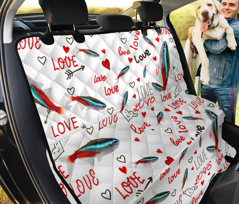 Neon Tetra Fish Print Pet Seat Covers