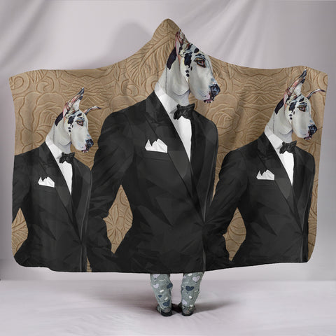 Amazing Great Dane Dog Print Hooded Blanket