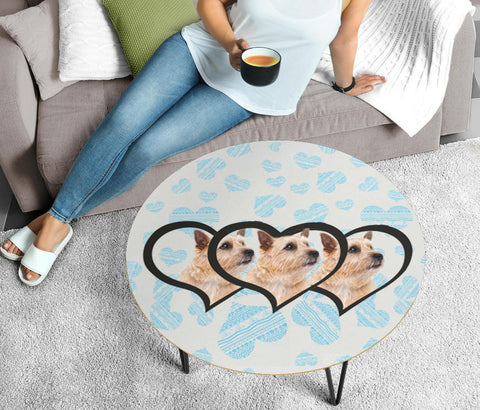 Norwich Terrier Print Circular Coffee Table