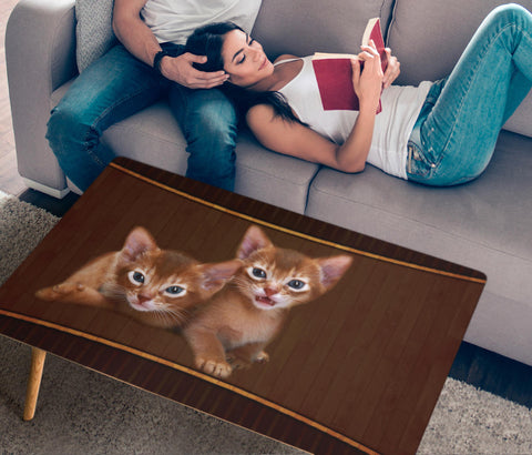 Cute Abyssinian Cat Print Rectangular Coffee Table