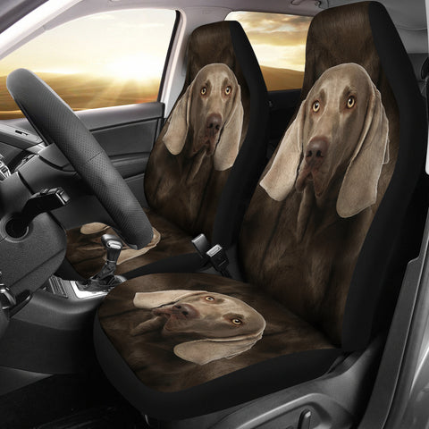 Weimaraner Dog Print Car Seat Covers