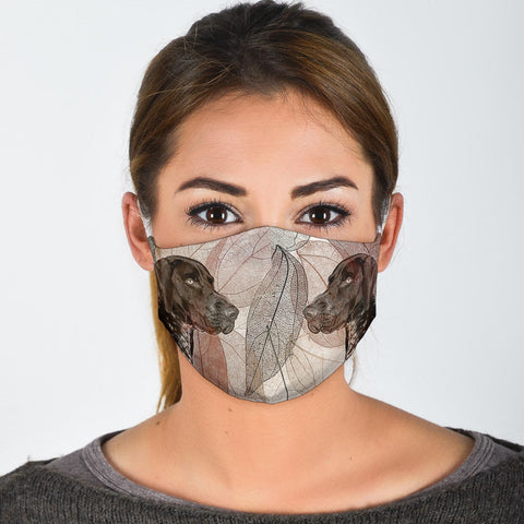 Lovely German Shorthaired Pointer Print Face Mask