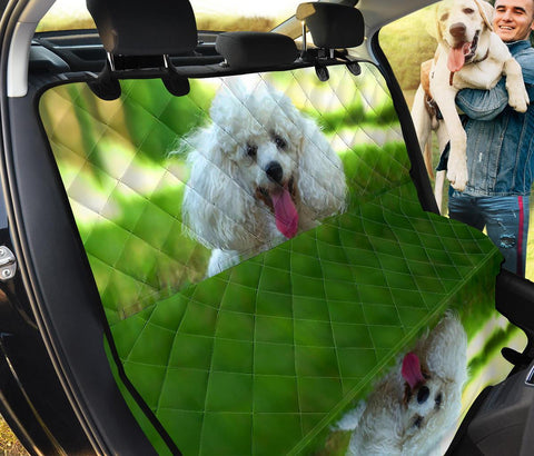 Cute Poodle Dog Print Pet Seat Covers