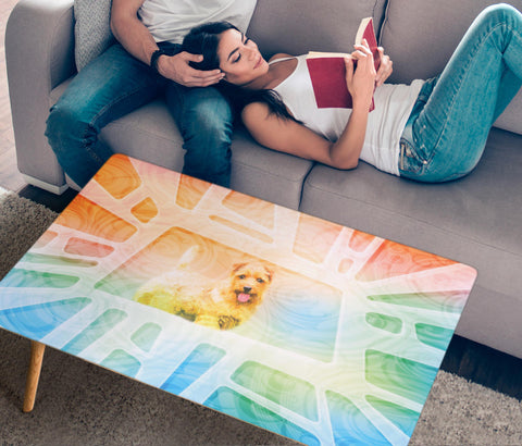 Norfolk terrier Dog Print Rectangular Coffee Table