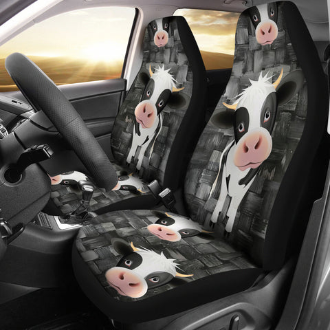 Cute Cow Print Car Seat Covers