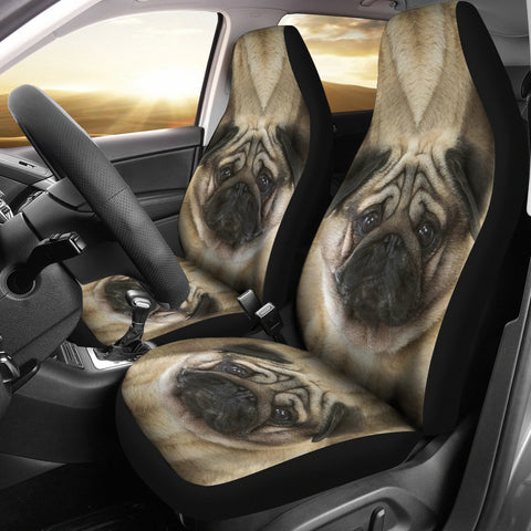 Cute Pug Print Car Seat Covers