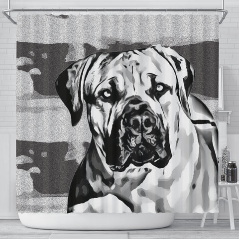 South African Mastiff (Boerboel) Dog Print Shower Curtain