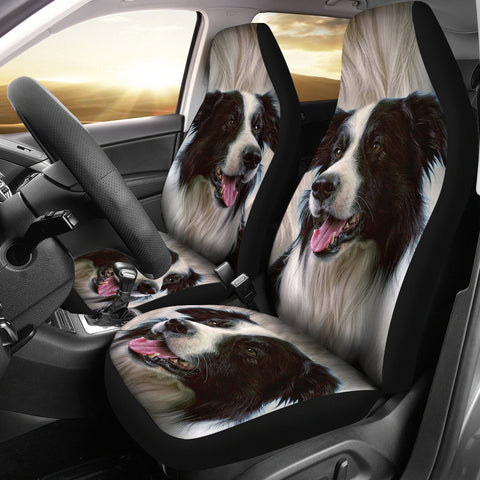 Border Collie Dog Print Car Seat Covers