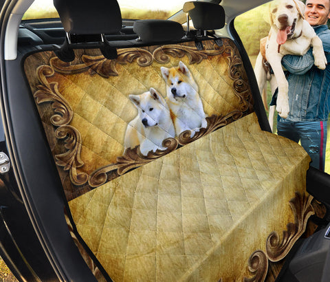 Cute Akita Inu Golden Print Pet Seat Covers- Limited Edition