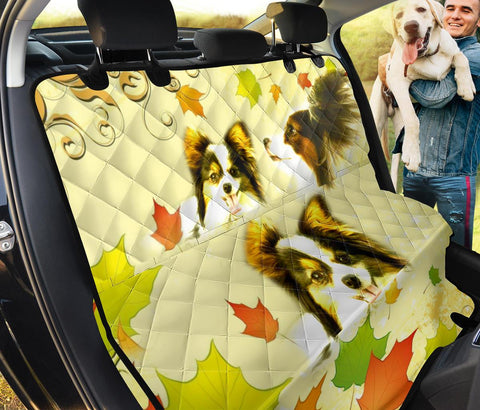 Cute Papillon Dog Print Pet Seat covers