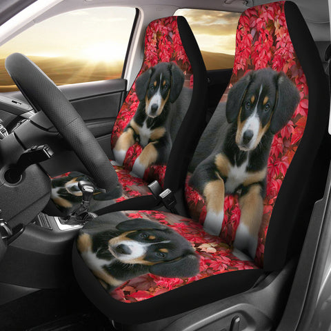 Entlebucher Mountain Dog On Pink Print Car Seat Covers