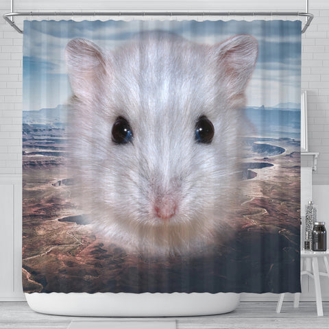Cute Campbell's Dwarf Hamster Print Shower Curtains
