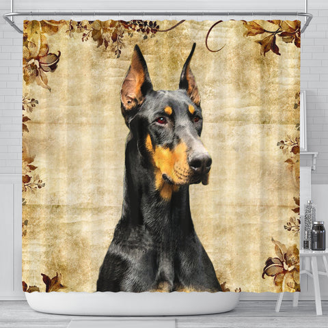 Amazing Doberman Pinscher Print Shower Curtains