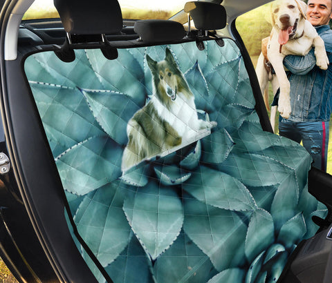 Rough Collie Print Pet Seat Covers