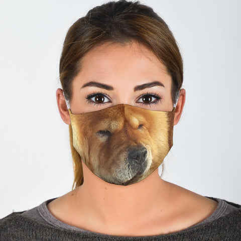 Cute Chow Chow Print Face Mask