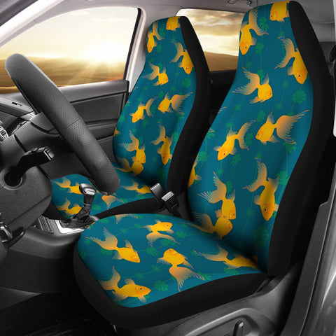 Gold Fish Pattern Print Car Seat Covers