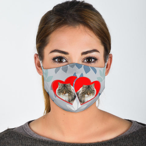 Norwegian Forest Cat Print Face Mask