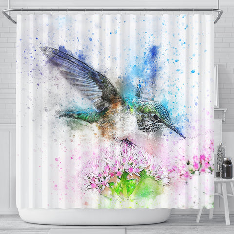 Bird Color Art Print Shower Curtains