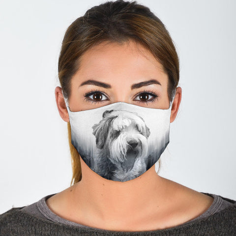 Bearded Collie Print Face Mask