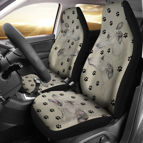 Whippet Paws Print Car Seat Covers