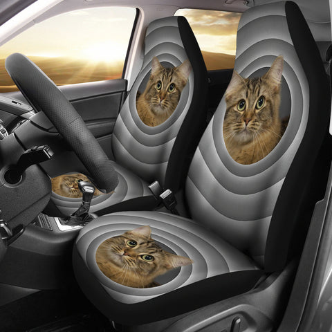 American Bobtail Cat Print Car Seat Covers