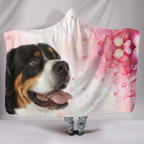 Greater Swiss Mountain Dog Print Hooded Blanket