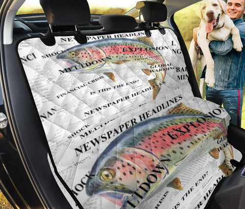 Rainbow trout Fish Print Pet Seat Covers