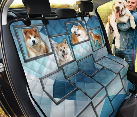 Akita Inu In Frame Print Pet Seat Covers