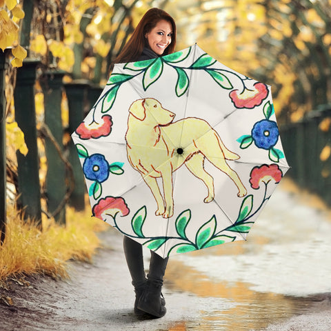 Chesapeake Bay Retriever floral Print Umbrellas