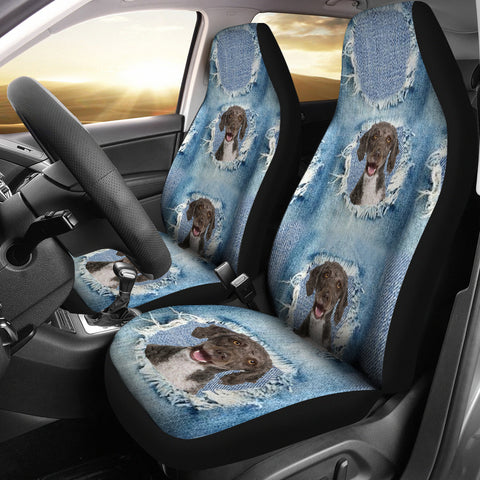 Spanish Water Dog Print Car Seat Covers