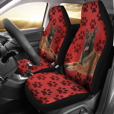 Belgian malinois Dog With Paws Print Car Seat Covers