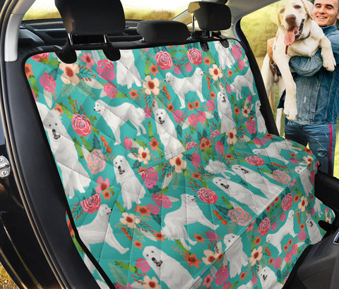 Great Pyrenees Floral Print Pet Seat Covers
