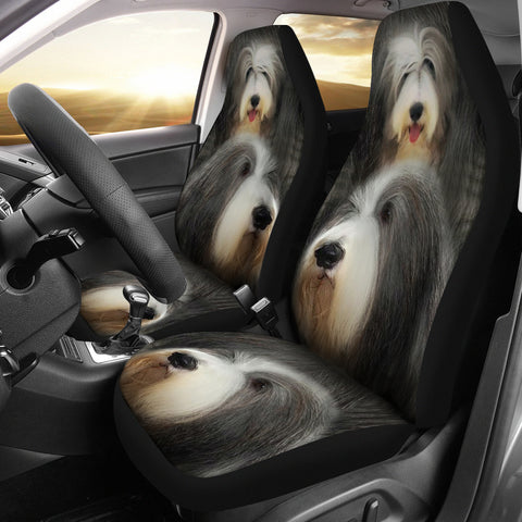 Bearded Collie Dog Print Car Seat Covers