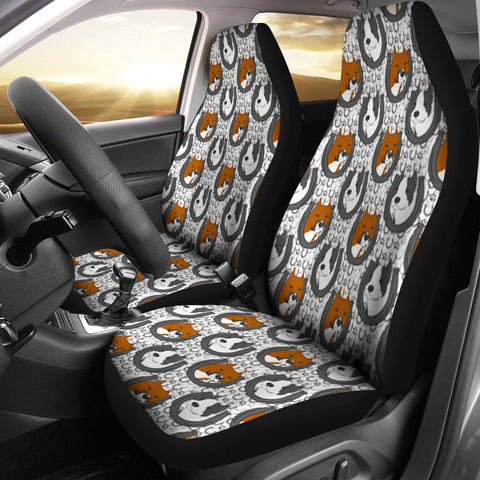 American Staffordshire Terrier Dog Pattern Print Car Seat Covers