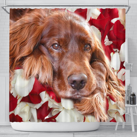 Lovely Irish Setter Print Shower Curtains