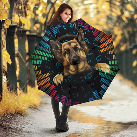 German Shepherd DJ Print Umbrellas