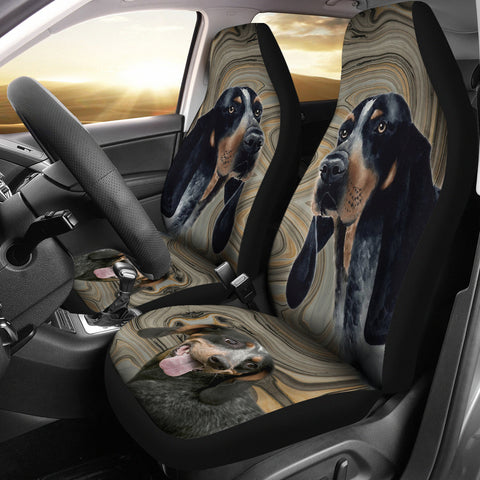 Bluetick Coonhound Print Car Seat Covers