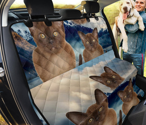 Cute Burmese Cat Print Pet Seat Covers