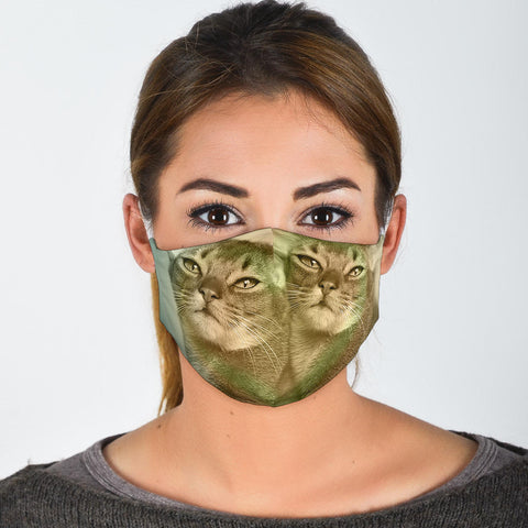 Abyssinian Cat Print Face Mask-Limited Edition