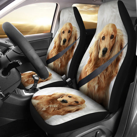 English Cocker Spaniel Print Car Seat Covers