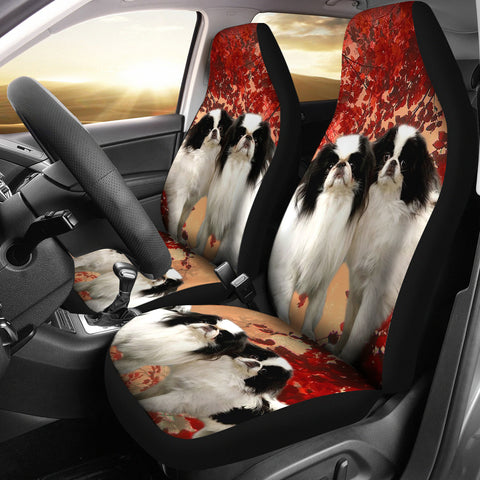 Japanese Chin Dog Print Car Seat Covers