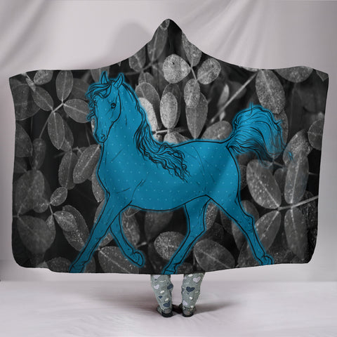 Amazing Anglo Arabian Print Hooded Blanket
