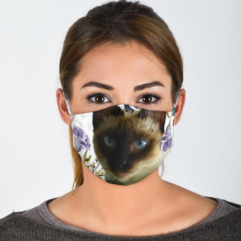 Lovely Balinese Cat Print Face Mask