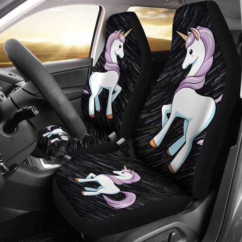 Cute Unicorn Print Car Seat Covers