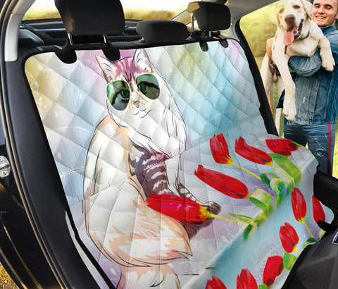 Siberian Cat Print Pet Seat Covers